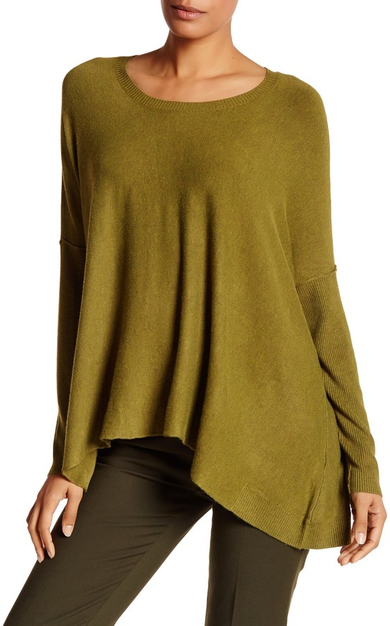 Eileen Fisher Scoop Neck Draped Boxy Sweater 3