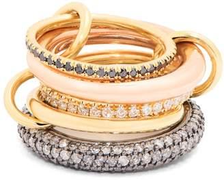 SPINELLI KILCOLLIN Nexus diamond, silver & gold ring