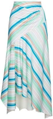 Peter Pilotto Striped asymmetric jersey skirt