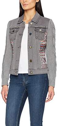 Desigual Women's Exotic Silver Woman Denim Jacket