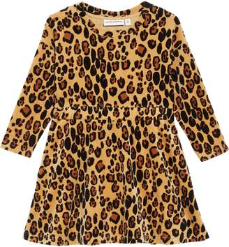 Mini Rodini Leopard Organic Cotton Velour Dress