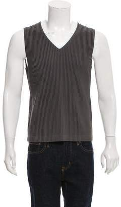 Issey Miyake HOMME PLISSÉ Pleated V-Neck Tank Top