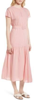 Nordstrom Signature Stripe Belted Dress