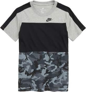 Nike Sportswear Logo Pieced T-Shirt