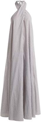 Mara Hoffman Lucille striped halterneck cotton dress