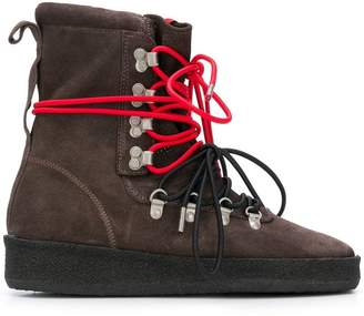 Represent contrast lace hiking-style boot