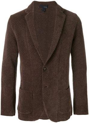 Lardini zig zag patterned blazer