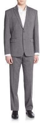 Vince Camuto Slim-Fit Sharkskin Wool Suit