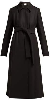 The Row Toomana Single Breasted Wool Blend Coat - Womens - Black