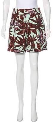 Etro High-Rise Floral Print Shorts