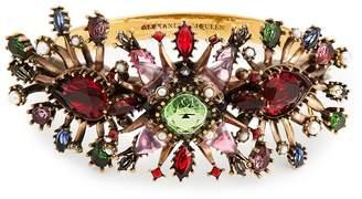 Alexander McQueen Rose embellished cuff