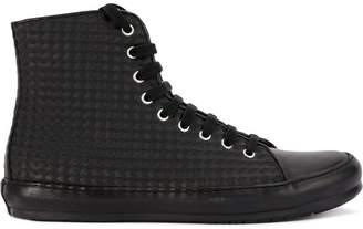Both lace-up hi-top sneakers