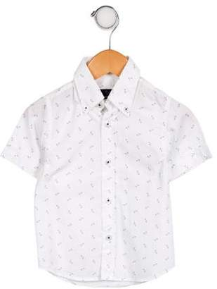Harmont & Blaine Junior Boys' Printed Button-Up Top