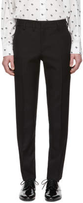 Saint Laurent Black Wool Gabardine Trousers
