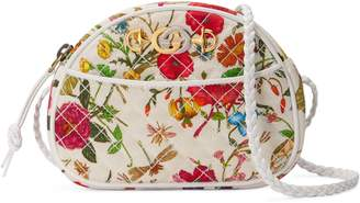 Gucci Quilted Floral Print Dome Crossbody Bag