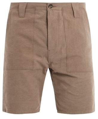 The Lost Explorer - Chur Mid Rise Slub Cotton Shorts - Mens - Brown