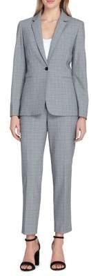 Tahari Arthur S. Levine Petite Windowpane Jacket and Pant Suit