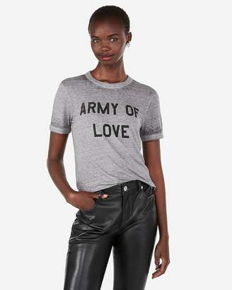 Express One Eleven Army Of Love Graphic Tee