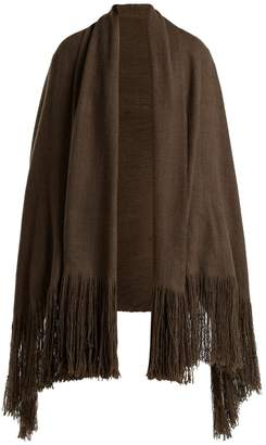 Denis Colomb Fringed cashmere shawl
