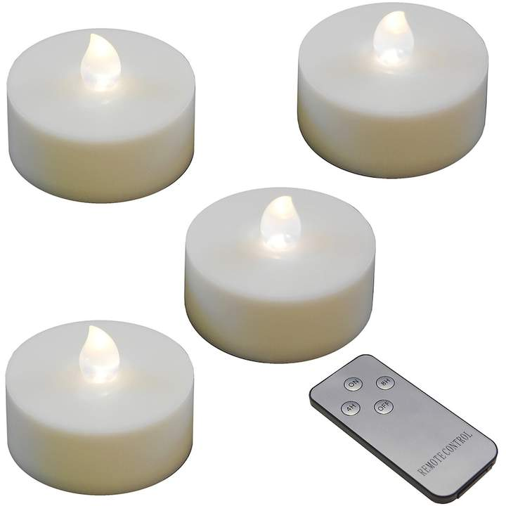 Lumabase LumaBase White LED Tealight Candle & Remote Control 5-piece Set