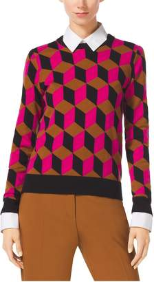 Michael Kors Hexagon Cashmere Sweater