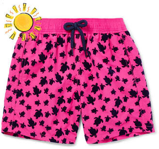 Vilebrequin Boys Ages 10 - 12 Jim Flocked Shell Swim Shorts - Pink