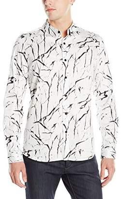 GUESS Men's Marble Print Shirt