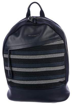WANT Les Essentiels Leather-Trimmed Embroidered Backpack