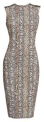 Victoria Beckham Women's Sleeveless Snake-Print Twist-Back Dress