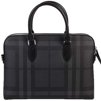 Burberry Black Checked Document Case