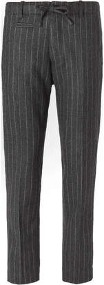MAN 1924 - Grey Slim-Fit Striped Wool and Cashmere-Blend Suit Trousers