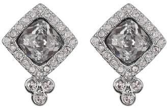 Jenny Packham Cushion-Cut Crystal Halo Stud Earrings
