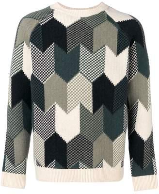 MAISON KITSUNÉ pattern knitted jumper