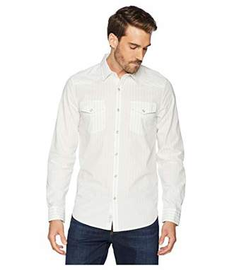 Lucky Brand Men's Casual Long Sleeve Dobby Button Down Western Shirt
