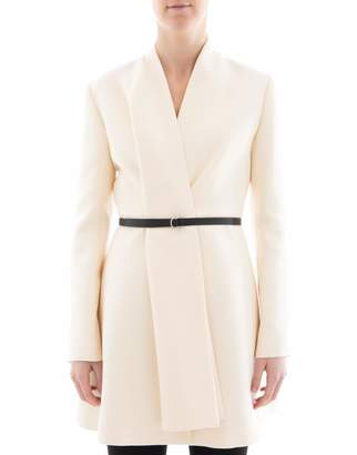 Christian Dior White Wool Coat