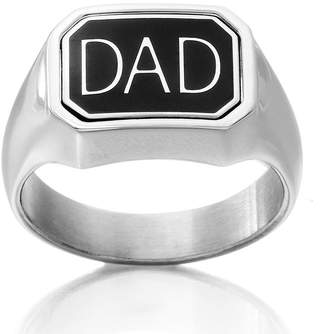 FINE JEWELRY DC Comics Stainless Steel Dad/Batman Reversible Ring