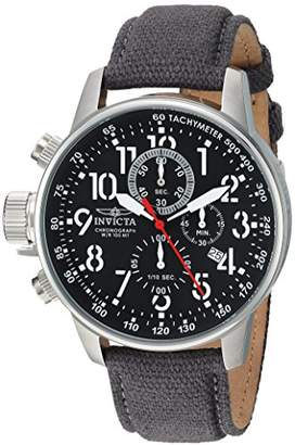 Invicta Men's 'I-Force' Quartz Stainless Steel and Cloth Casual Watch