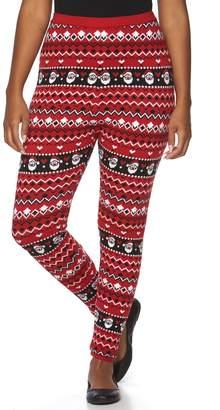 Us Sweaters Plus Size US Sweaters Santa Fleece Leggings