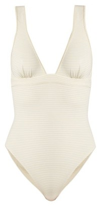 Marysia Swim Nassau Reversible Tie Back Swimsuit - Womens - Cream White