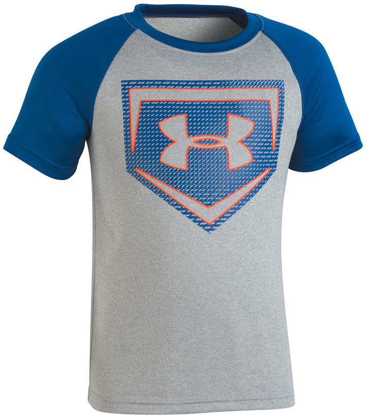 Little Boys Home Plate-Print T-Shirt,