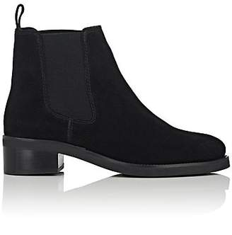 Barneys New York WOMEN'S SUEDE CHELSEA BOOTS - BLACK SIZE 6