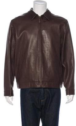 Polo Ralph Lauren Point Collar Leather Jacket