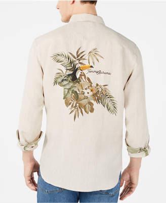 Tommy Bahama Men Big & Tall Toucan Escape Tropical Print Linen Shirt