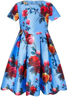 Monsoon Girls Children Multi Versaille Dress - Natural