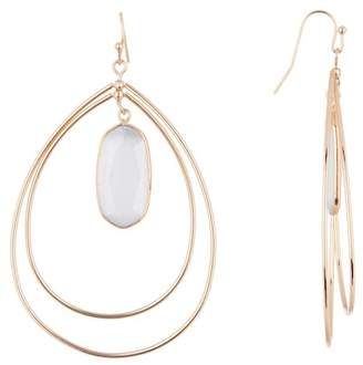 Panacea Grey Cat's Eye Teardrop Earrings