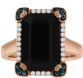 Antandre 14k Gold Diamond & Black Onyx Framed Cocktail Ring