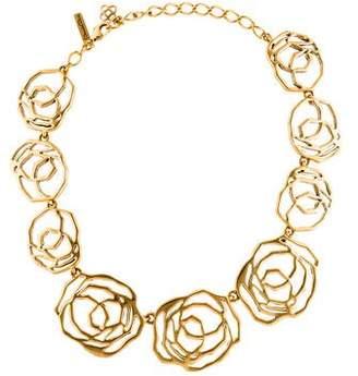Oscar de la Renta Floral Cutout Collar Necklace