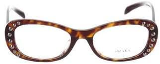Prada Studded Oval Eyeglasses