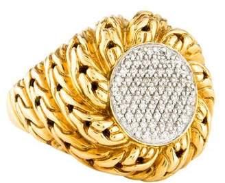 John Hardy 18K Diamond Classic Chain Cocktail Ring