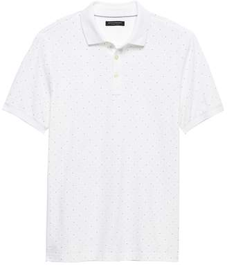 Banana Republic Slim Luxury-Touch Dot Polo